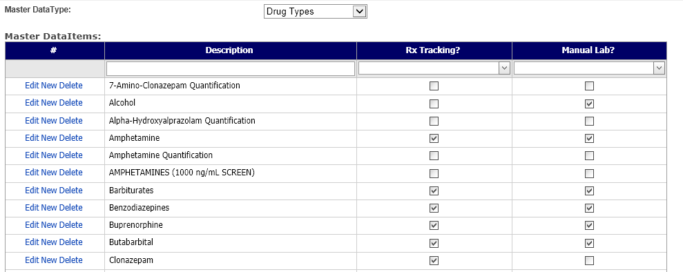 Editing Your Lists For Labs And Rx Tracking Computalogic