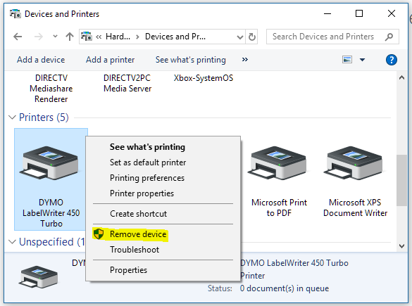 Dymo printer not printing from MethodOne – Computalogic
